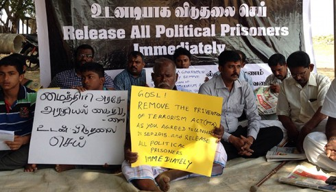 Tamil political prisoner halts 9 day fast unto death