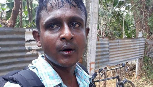 Sri Lanka police officer assaults Tamil journalist in Jaffna