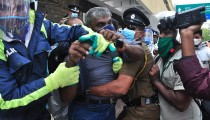 Trade unions slam police violence against George Floyd protest in Sri Lanka